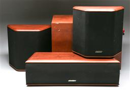 Sale 9156 - Lot 25 - 3 Jensen Speakers, together with a Jamo Sub