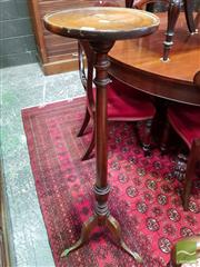 Sale 8485 - Lot 1018 - Georgian Style Stained Pine Pedestal, with turned shaft