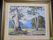 Sale 8557 - Lot 2006 - Mary Urquhart - Valley Road oil on board, 40 x 49.5cm, signed lower left