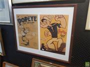 Sale 8595 - Lot 2077 - Double Popeye Print