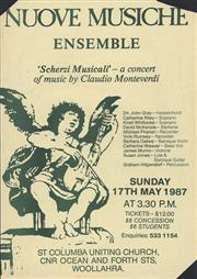 Sale 8766A - Lot 5049 - Nuove Musiche Ensemble - screenprint