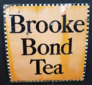 Sale 8822 - Lot 1051 - Metal Vintage Brooke Bond Tea Sign (102 x 102cm)