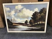 Sale 8981 - Lot 2047 - F. Van Leo - River Landscape, oil on canvas SLL, 50x70cm
