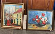 Sale 9072 - Lot 2053 - 3 Works: Sydney Street Scene together with Still Life and decorative print