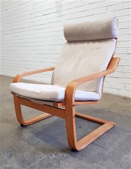 Sale 9151 - Lot 1088 - Bent ply lounge chair by Rivoira (h:98 x w:68 x d:66cm)