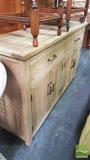 Sale 8390 - Lot 1507 - Recycled Oak 2 Drawer Sideboard