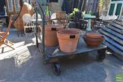 Sale 8390 - Lot 1341 - Rustic Industrial Warehouse Trolley