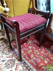 Sale 8465 - Lot 1035 - Timber Piano Stool with Upholstered Seat
