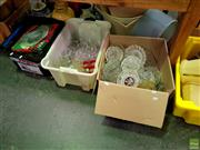 Sale 8582 - Lot 2195 - 3 Boxes of Glass & Crystalware incl Ashtrays etc