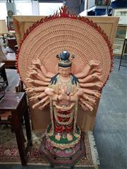 Sale 8700 - Lot 1061 - Large Fibreglass Figure of Shiva