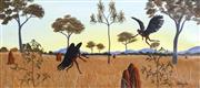 Sale 8732A - Lot 5022 - Percy Trezise (1923 - 2005) - Illustrations from the The Flying Fox Warriors 22 x 48.5cm