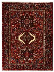Sale 8715C - Lot 137 - A Persian Azerbaijan Gharajeh Turkish Knotts, 100% Wool Pile And Geometrics Design , 190 x 144cm