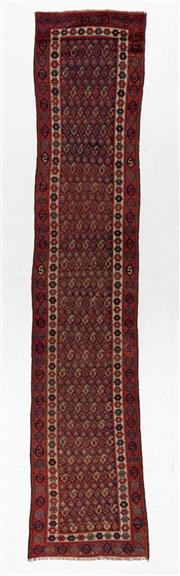 Sale 8790C - Lot 88 - An Antique Persian Shiraz 100% Wool Pile, 406 x 86cm