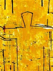 Sale 8839A - Lot 5018 - Graham Fransella (1950 - ) - Dune Figure, 2002 122 x 91.5cm
