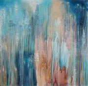 Sale 9081A - Lot 5006 - Robyn Bernitz - Blue Rain 117 x 117 cm