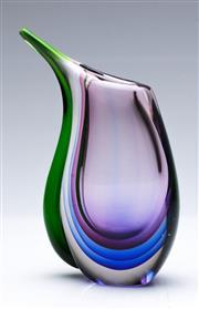 Sale 9090 - Lot 43 - An Art Glass Vase H: 23cm