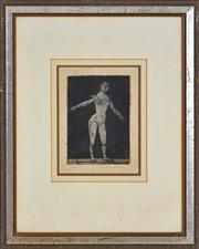 Sale 8382 - Lot 588 - Fred Williams (1927 - 1982) - Dancer 14.5 x 10.5cm