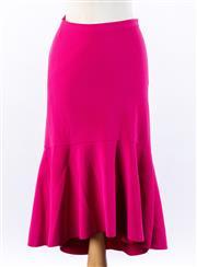 Sale 8891F - Lot 33 - A Rebecca Vallance hot pink crepe mermaid skirt, size 8