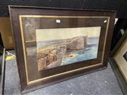 Sale 8914 - Lot 2041 - R M Ronald (C19th) South Head watercolour, signed