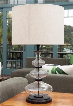 Sale 9191H - Lot 7 - A Glass bulbous table lamp by Pottery Barn, H 63 cm