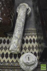 Sale 8284 - Lot 1014 - Late 19th Century Figured & Turned Marble Pedestal (some faults)