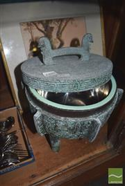 Sale 8436 - Lot 64 - Chinese Style 3-Footed Ice Cooler