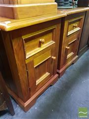 Sale 8495F - Lot 1062 - Pair of Timber Bedsides