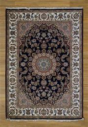 Sale 8559C - Lot 100 - Indo Persian Silk Inlaid 171cm x 243cm