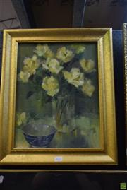 Sale 8569 - Lot 2032 - Molly Garland (1920 - ) - Still Life and Ceramic 55 x 45.5cm (frame)