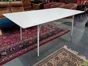 Sale 8589 - Lot 1051 - White Modern Dining Table