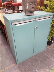 Sale 8601 - Lot 1336 - Metal Industrial Cabinet with Two Doors