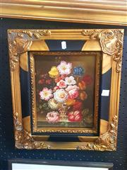 Sale 8650 - Lot 2016 - Artist Unknown - Still Life Flowers, Oil on Board, 24x19cm
