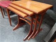 Sale 8839 - Lot 1011 - G-Plan Teak Nest of Three Tables
