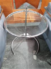 Sale 8801 - Lot 1034 - Eileen Gray Glass Top Side Table