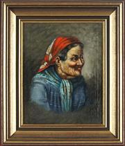 Sale 8838A - Lot 5179 - Artist Unknown - Old Women 23.5 x 18.5cm
