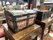 Sale 8896 - Lot 1082 - Timber Bound Painted Trunk Together with another