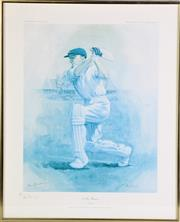 Sale 8927 - Lot 2099 - Sir Donald Bradman Signed Limited Edition Print by Alan Fearnley (46.5cm x 50cm) Edition 237/850