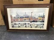 Sale 8981 - Lot 2046 - Laurence Stephen Lowry Print of North West England Street Scene, 40x70cm