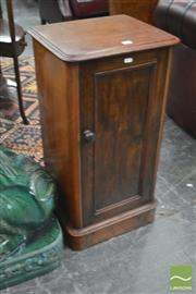 Sale 8335 - Lot 1044 - Victorian Mahogany Bedside Cabinet, with single door (H 78 x W 40 x D 33)