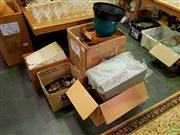 Sale 8582 - Lot 2196 - 4 Boxes of Sundries incl Desk Tidies, First Aid Box, etc