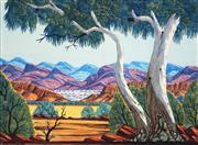 Sale 8696 - Lot 564 - Elton Wirri (1990 - ) - MacDonnell Ranges 36 x 48.5cm
