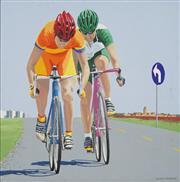 Sale 8764 - Lot 527 - Richard Maurovic (1963 - ) - Bicycle Riders I , 2000 59.5 x 59.5cm