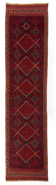 Sale 8715C - Lot 175 - A Persian Meshvani Village Rug, Wool On Cotton Foundation Classed As Tribal Sumak, 256 x 60cm