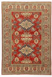 Sale 8760C - Lot 42 - An Afghan Kazak Geometric Design 100%Wool And Natural Dyes, 319 x 220cm