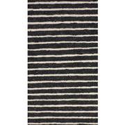 Sale 8860C - Lot 15 - An India Rustic Jute/Wool Ribbed Carpet in Charcoal, in Handspun Jute & Wool 160x230cm