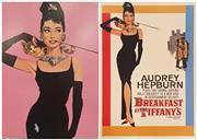 Sale 9011 - Lot 2079 - Pair of Audrey Hepburn Posters mounted on foam board incl. Breakfast at Tiffanys