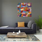 Sale 9042A - Lot 5009 - Betty Mbitjana (1955 - ) - Bush Melon - Awelye 96 x 96 cm (stretched and ready to hang)