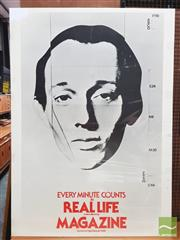 Sale 8421 - Lot 1008 - Vintage and Original Magazine REAL LIFE Promotional Poster (139.5cm x 100cm)