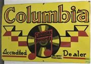 Sale 8435 - Lot 1002 - Enamel Columbia Acredited Dealer Sign 76cm x 51cm