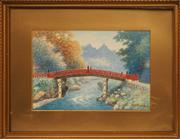 Sale 8678 - Lot 2008 - Y Matsumoto - The Bridge, watercolour, 23 x 32cm, signed lower right